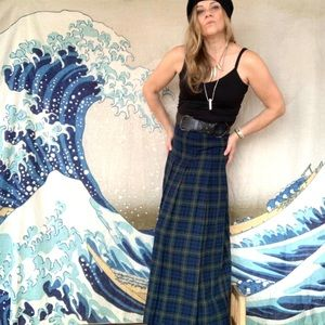 Vintage Pendleton 💯 virgin wool plaid maxi skirt